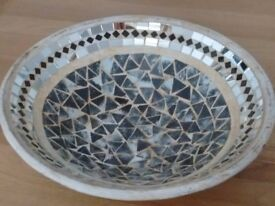 Lovely Decorative Mosaic/Mirror Bowl
