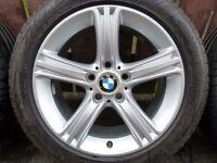 """Stunning Genuine BMW F30 F31 17"""" Alloy Wheels 5x120pcd E36 E46 E90"""
