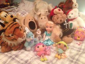 Toy bundle, elsa, lalaloopsy, and more