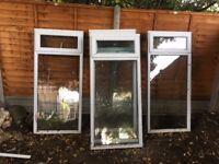 WHITE DOUBLE GLAZED UPVC WINDOWs/ Conservatory panels, 6 picese