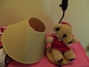 teddy bear lamp and shade