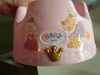 zapf creation my first baby born musical pottie xmas gift as new hardly looked at