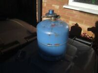 camping size gas bottles one m/t one part full