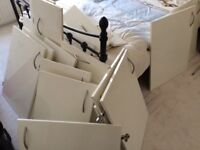 Cream gloss used kitchen cupboard doors and drawer fronts