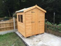 HEAVY DUTY QUALITY T&G APEX SHEDS NEW FOR SALE PRICE INCLUDES DELIVERY AND FITTING