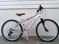 "(2233) 26"" 16"" Lightweight 7005 Aluminium CARRERA TEEN ADULT MOUNTAIN BIKE BICYCLE Height: 153-168cm"