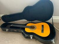 Childs Encore Guitar with hard carry case