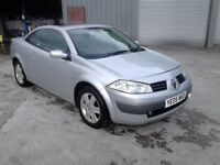 NICE CHEAP RENAULT MEGANE CONVERTIBLE 1.6 WITH 11 MONTHS MOT FROM NEW AND JUST 98,000 MILES FROM NEW
