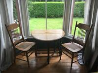 Pair of antique oak Arts and Crafts chairs