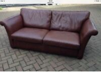 LEATHER MULTIYORK LARGE BROWN SOFA VGC 2.8m £2600 new £300 for a quick sale.