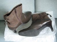 Italian leather & suede Ladies ankle boots