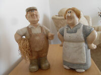 FARMER AND WIFE ORNAMENTS