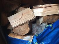 6 bags of Wood for fireplace