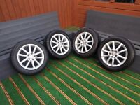 Seat Leon 16inch OEM Alloys and Tyres. 5x112 pcd. Offers Welcome.