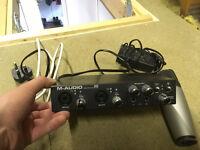 M-Audio ProFire 610 Audio Interface + Samson Condenser Microphone - Studio Recording Equipment