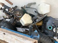 Antique miniature motorbike parts