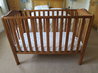 John Lewis Natural wood cot