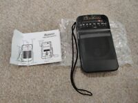 Brand new Radio Portable Radio AM FM Battery Operated for Walking Hiking Camping Powered by 2AA