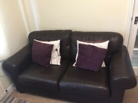 X2 Brown sofas for sale
