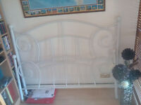 Victorian white double bed frame