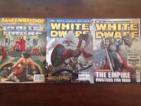 Over 100 Games Workshop White Dwarf back issues ranging from 130 to 354 (Oct 1990 - Jun 2009)