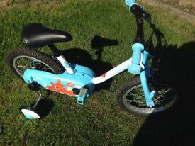 Child's First Bicycle suit age 3 years + complete with stabilisers good working order & condition