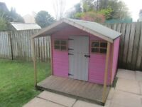Childrens outdoor wooden playhouse - excellent condition