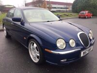 2000 JAGUAR S-TYPE 4.0 V8 AUTO, SALOON, 281 BHP, LONG MOT, ONLY 68K, STARTS AND DRIVES GREAT !!