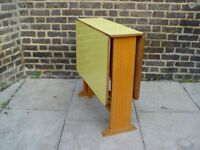 FREE DELIVERY Retro Yellow Gate leg Table Vintage Furniture