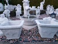 Concrete Flower Pot £40 Pair Garden