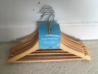 Kids wooden hangers new