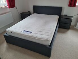 For Sale - Double Ottoman Bed, Mattress and Bedside Tables