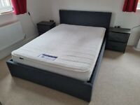 For Sale - Double Ottoman Bed, Mattress and Bedside Tables (collection from week of May 24th)