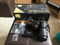 Nikon D3200 excellent condition + memory card + carry case