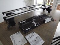 Thule Mini Clubman Roofbars Roof Bars 960 Wing Aero Bars, 754 Rapid System, 1680 Fitting Kit