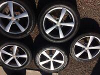 5 X 114.3 Alloywheels with tyres