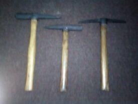 hammers x 3 motar/rock