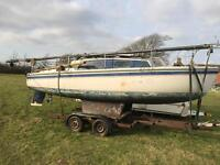 22' Kingfisher Yacht and Trailer