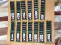13 x 512MB sticks of Kingston memory tested and working fine £10 the lot