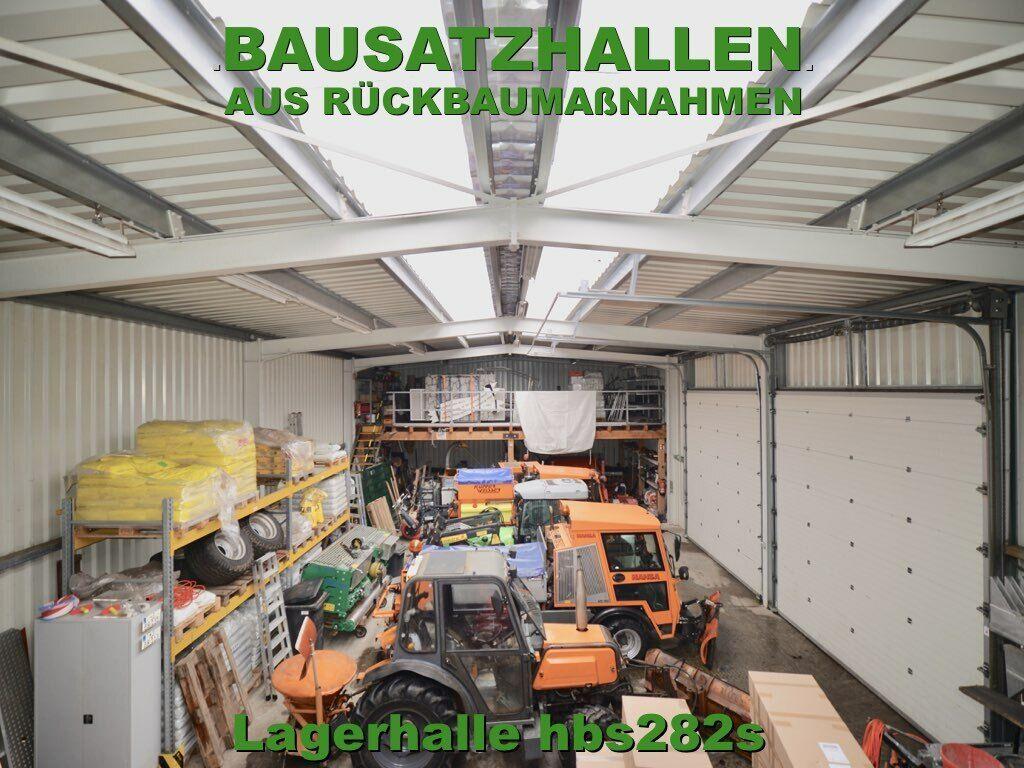 Stahlhallen-Bausatz aus Rückbau-Maßnahme