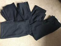 Set Of Five Pairs of Boys School Trousers Age 10-11.