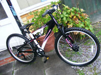 "LADIES 26"" WHEEL ALUMINIUM FRAME BIKE HARDLY USED"