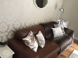 Brand new leather settee from next