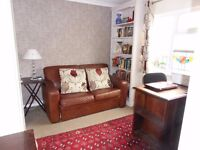 SOFA BED ! 2 Seater Brown Leather ! BARGAIN PRICE great if your short on space !!
