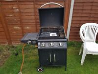 Large gas bbq and calor gas bottle