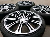 "BMW 19"" M3 STYLE ALLOY WHEELS & TYRES 5X120 3 4 5 SERIES VW T5 VIVARO MSPORT"