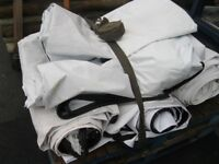 Tarpaulin Sheets For Sale, £20 Each ( Plain White One Side ) Roughly 6x3m