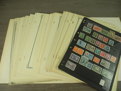 CANADA, 100s of Stamps hinged on remainder Scott Specialty pages(worn, aged)