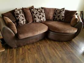 Corner suite sofa and cuddle chair