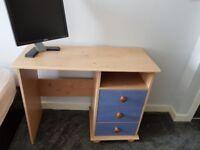 Study desk - 3 drawers and a shelf